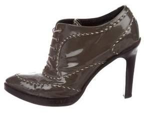 Bottega Veneta Patent Leather Ankle Boots
