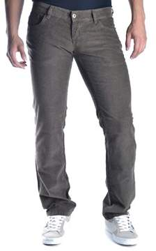 Richmond Men's Grey/brown Cotton Jeans.