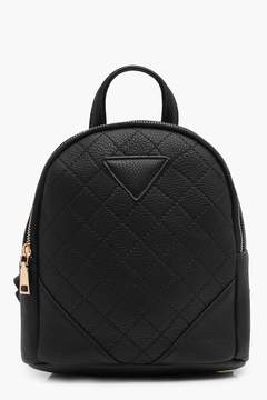 boohoo Quilted Mini Rucksack