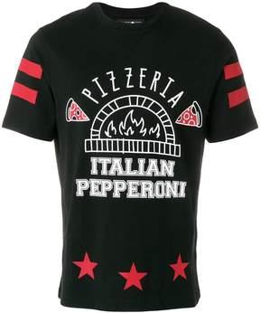 Hydrogen pizzeria print T-shirt