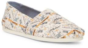 Toms Classic Chicago Printed Natural Canvas Slip-On Shoe