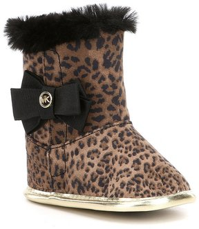 MICHAEL Michael Kors Girls Baby Baba Leopard Crib Shoes