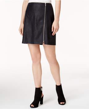 Bar III Textured Zip-Detail Mini Skirt, Created for Macy's