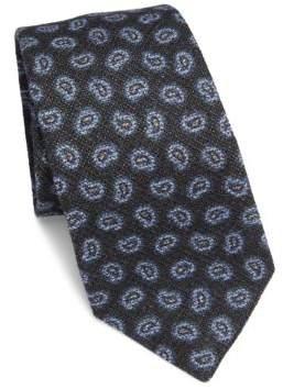 Isaia Paisley Wool Tie
