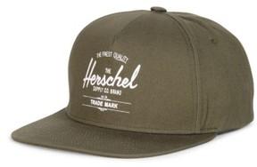 Herschel Men's Whaler Snapback Baseball Cap - Green