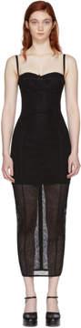 Dolce & Gabbana Black Stretch Tulle Bustier Dress