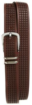 Eleventy Men's Embossed Leather Belt