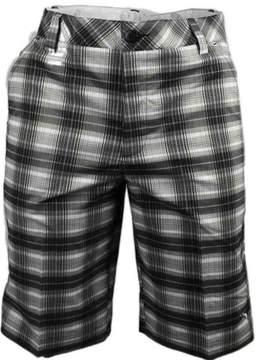 Puma Tech Blur Plaid Golf Bermuda Shorts