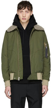 Rag & Bone Green Flight Jacket