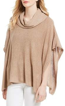 Chelsea & Theodore Textured Cowl Neck Poncho