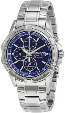 Seiko Solar Alarm Chronograph Blue Dial Men's Watch