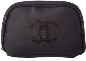 Chanel Black Sequin Cosmetic Pouch