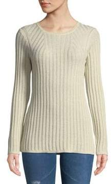 Foxcroft Ribbed Crewneck Sweater