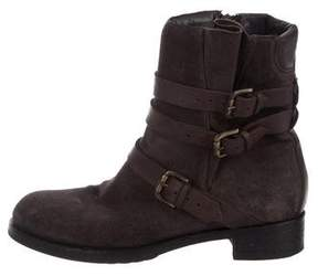 Alberta Ferretti Suede Ankle Boots