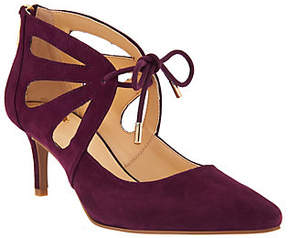 C. Wonder As Is Suede Pumps with Cutout Detail - Scarlett