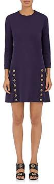 Chloé Women's Button-Embellished Wool Shift Dress