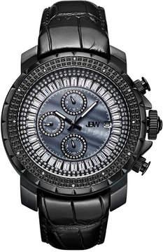 JBW Diamond Mens Black Strap Watch-J6347l-D