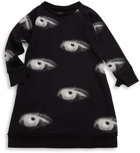 Nununu Little Girl's Eye Cotton Dress - Black, Size 4-5