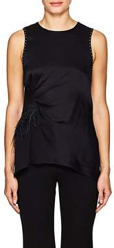 3.1 Phillip Lim Women's Feather-Trimmed Silk Blouse