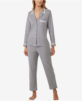 Eileen West Lace-Trimmed Pajama Set