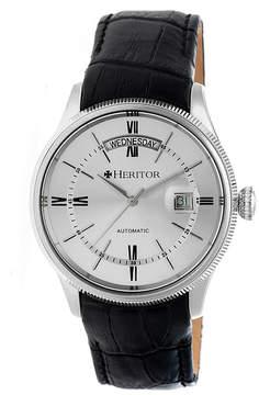 Heritor Vernon Mens Black Strap Watch-Herhr5805