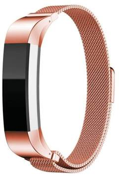 Fitbit YESOO Stainless Steel Magnetic Milanese Loop Bracelet Replacement Watch Band For Alta HR Fitness Tracker (Rose Gold)