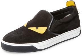 Fendi Men's Angry Eyes Slip-On Sneaker