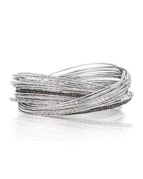 Coomi Spring Sterling Silver Bracelet w/ Interlaced Stacks