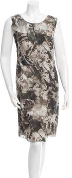 CNC Costume National Printed Silk Dress
