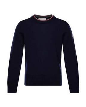 Moncler Maglia Virgin Wool Long-Sleeve Sweater, Size 8-14