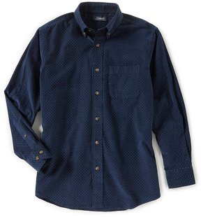 Roundtree & Yorke Casuals Long-Sleeve Print Corduroy Sportshirt