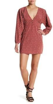 Amuse Society Arrowhead V-Neck Printed Dress