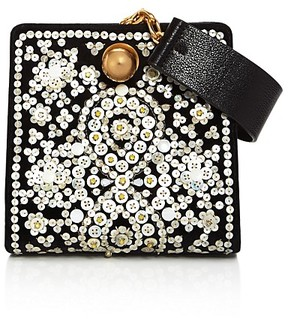 Tory Burch Darcy Embellished Clutch - BLACK/GOLD - STYLE
