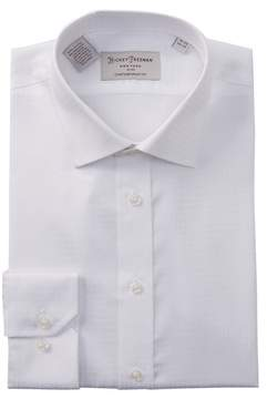 Hickey Freeman Textured Solid Contemporary Fit Dress Shirt
