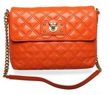 Marc Jacobs Women's 'the Large Single' Shoulder Handbag Madarin. - ORANGE - STYLE