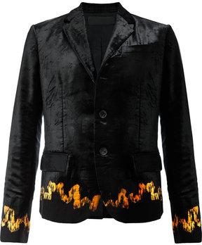 Haider Ackermann patterned hem blazer