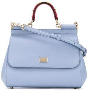 Dolce & Gabbana medium Light Blue Sicily shoulder bag - BLUE - STYLE