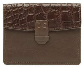 John Varvatos Collection Genuine Crocodile & Leather Card Case