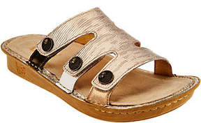 Alegria Leather Slip-on Sandals w/ StrapDetails -Venice