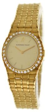 Audemars Piguet Royal Oak 18K Yellow Gold Diamonds Quartz Watch