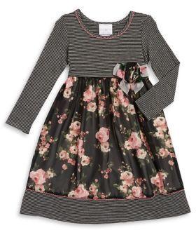 Iris & Ivy Little Girl's Stripe Chiffon Dress
