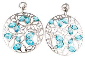 Di Modolo Blue Crystal Medallion Large Drop Earrings