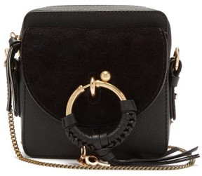 See by Chloe Joan Square Leather Cross Body Bag - Womens - Black
