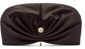 Jimmy Choo Vivien Satin Clutch Bag - Womens - Black
