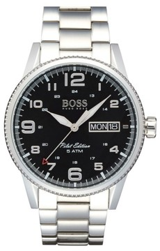BOSS Men's 'Pilot' Bracelet Watch, 44Mm