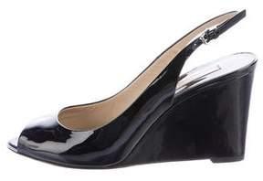 Michael Kors Patent Leather Slingback Wedges