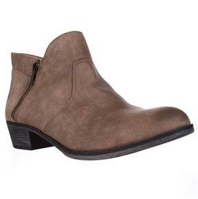 American Rag Ar35 Abby Side Zip Short Ankle Boots, Tan.