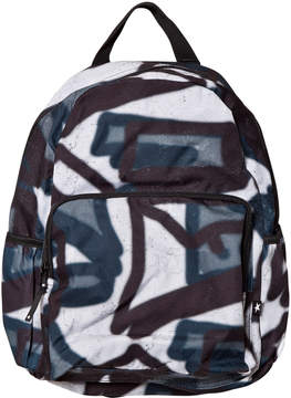 Molo Black and White Graffiti Big Backpack