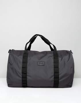 Asos Barrel Bag In Black Grid Print