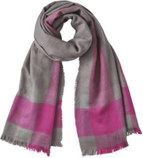 Joe Fresh Women's Contrast Check Scarf, Dark Grey (Size O/S)